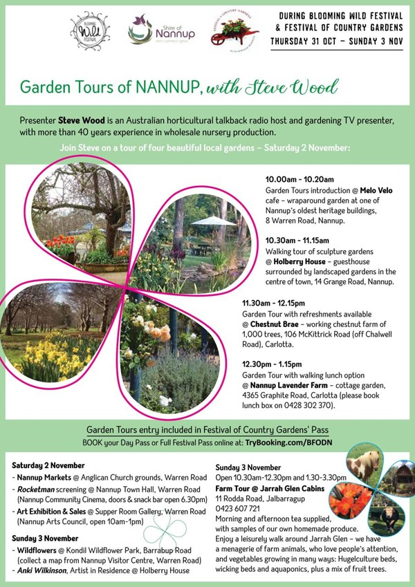 Garden Tours of Nannup, with Steve Wood