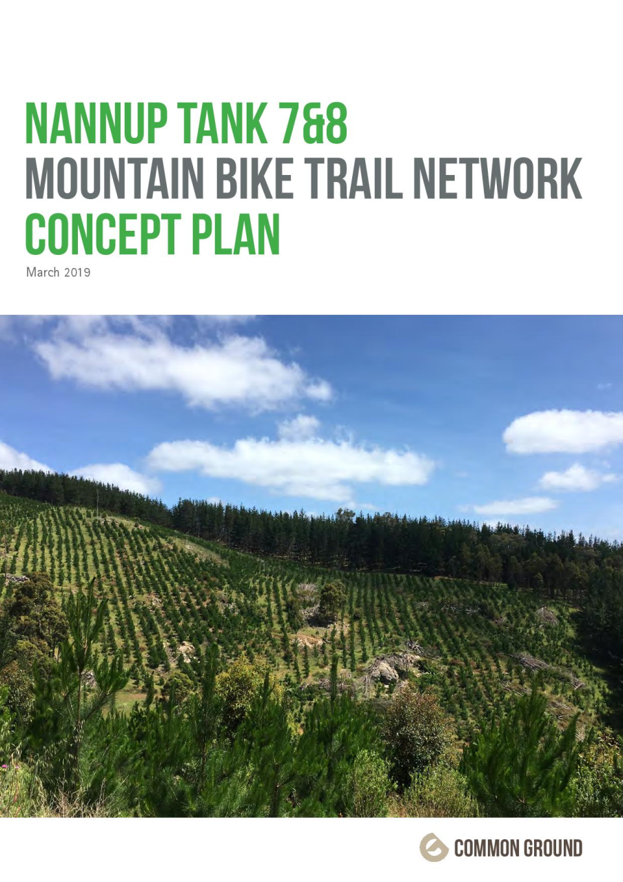 Nannup Tank 7 & 8 Mountain Bike Trail Concept Plan